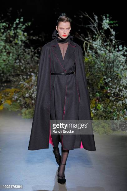 Model walks the runway during the Jason Wu Fall Winter 2020 Fashion show at Skylight Modern on February 09, 2020 in New York City.