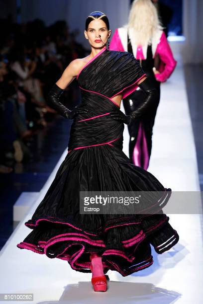 A model walks the runway during the Jean Paul Gaultier Haute Couture Fall/Winter 20172018 show as part of Haute Couture Paris Fashion Week on July 5...