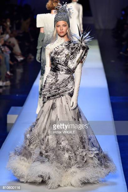 Model walks the runway during the Jean Paul Gaultier Haute Couture Fall/Winter 2017-2018 show as part of Haute Couture Paris Fashion Week on July 5,...