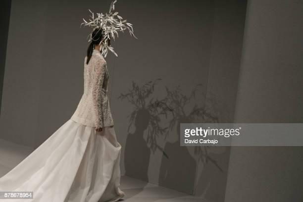 A model walks the runway during the Juana Martin show at Sevilla de Bodas on November 24 2017 in Seville Spain