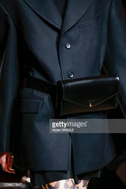 Model walks the runway during the Junya Watanabe Ready to Wear fashion show as part of the Paris Fashion Week Womenswear Fall/Winter 2020-2021 on...