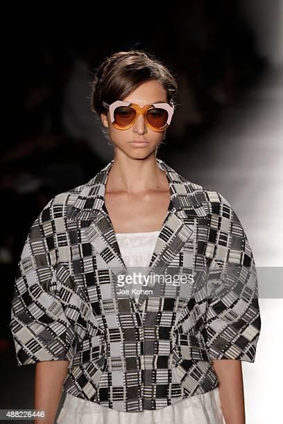 633a6c961b46 A model walks the runway during the Karen Walker Spring 2016 New York  Fashion Week at
