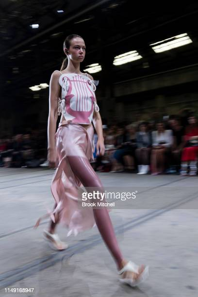 A model walks the runway during the Karla Spetic show at MercedesBenz Fashion Week Resort 20 Collections at Carriageworks on May 15 2019 in Sydney...