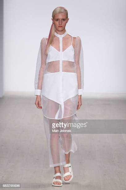 A model walks the runway during the Karla Spetic show at MercedesBenz Fashion Week Resort 18 Collections at Carriageworks on May 15 2017 in Sydney...