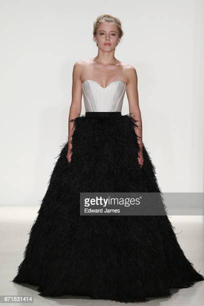 Model walks the runway during the Kelly Faetanini Spring/Summer 2018 bridal collection fashion show on April 20, 2017 in New York City.