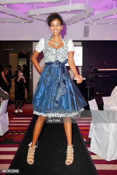 A model walks the runway during the Kempinski Fashion Dinner on May 23 2017 in Munich Germany