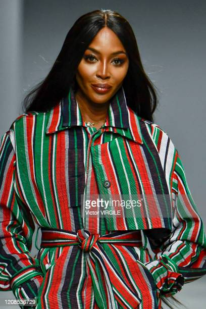 A model walks the runway during the Kenneth Ize Ready to Wear fashion show as part of the Paris Fashion Week Womenswear Fall/Winter 2020/2021 on...