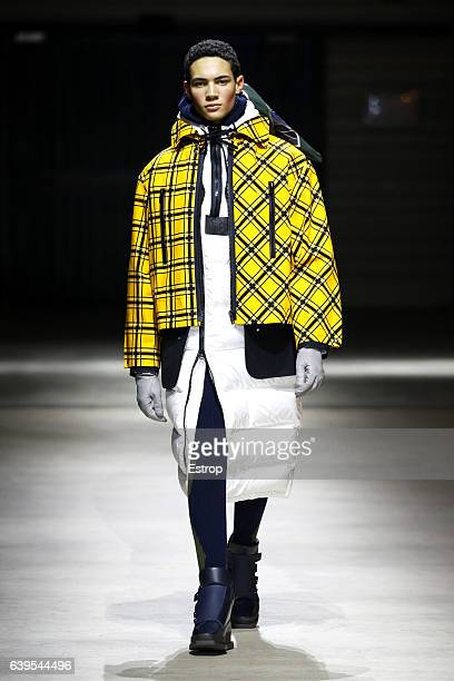 A model walks the runway during the Kenzo designed by Humberto Leon Carol Lim Menswear Fall/Winter 20172018 show as part of Paris Fashion Week on...