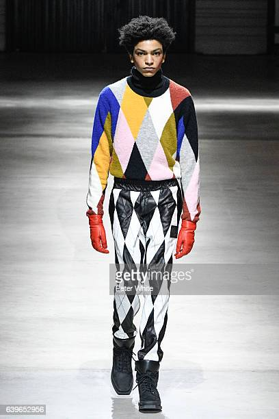 A model walks the runway during the Kenzo Menswear Fall/Winter 20172018 show as part of Paris Fashion Week on January 22 2017 in Paris France