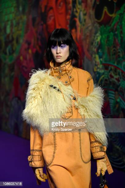 Model walks the runway during the Kenzo Menswear Fall/Winter 2019-2020 show as part of Paris Fashion Week on January 20, 2019 in Paris, France.