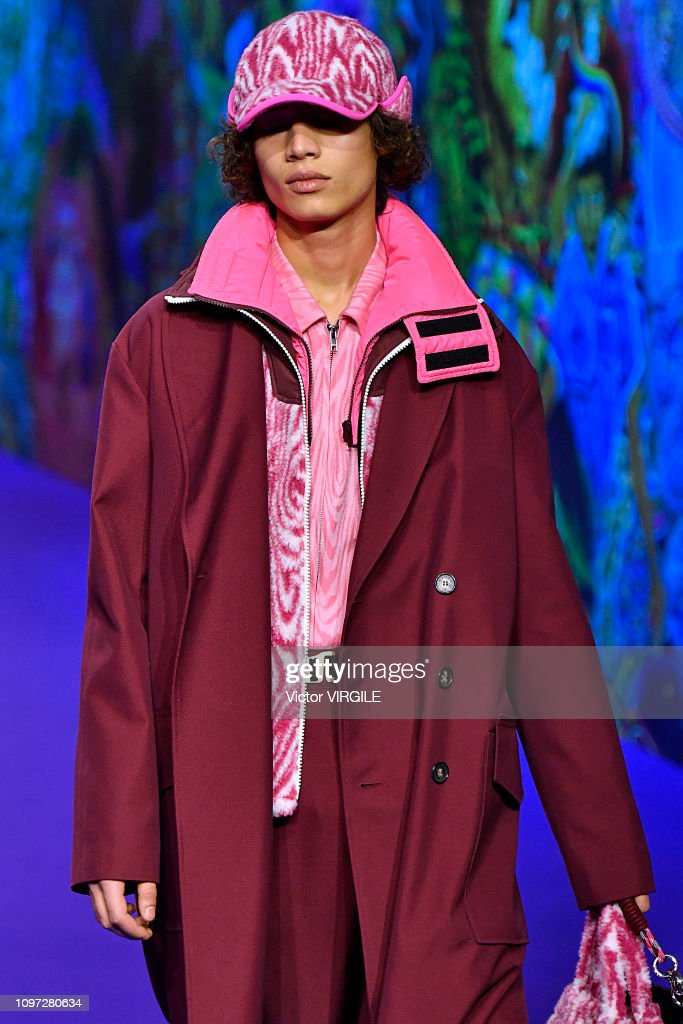 f44ee01a A model walks the runway during the Kenzo Menswear Fall/Winter ...