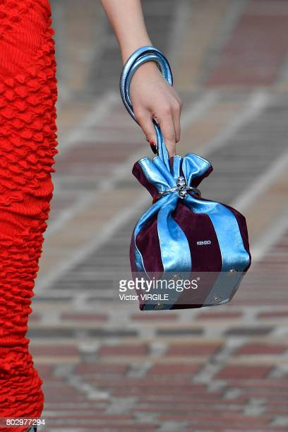 A model walks the runway during the Kenzo Menswear Spring/Summer 2018 show as part of Paris Fashion Week on June 25 2017 in Paris France