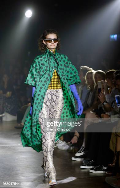 A model walks the runway during the Kenzo Menswear Spring/Summer 2019 show as part of Paris Fashion Week on June 24 2018 in Paris France
