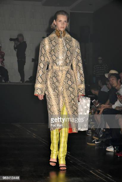 A model walks the runway during the Kenzo Menswear /womenswear Spring/Summer 2019 show as part of Paris Fashion Week on June 24 2018 in Paris France