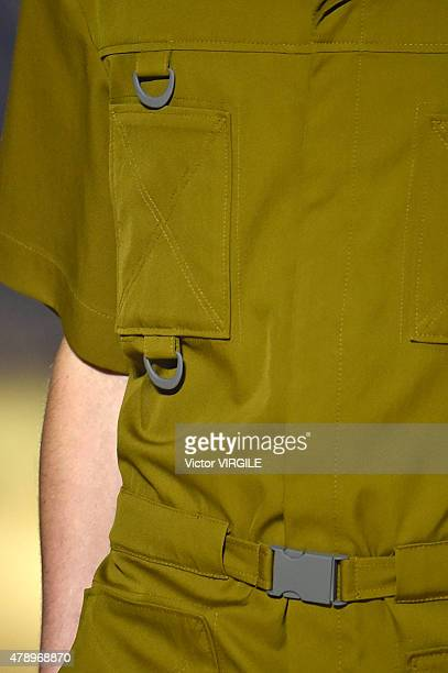 A model walks the runway during the Kenzo Ready to Wear Menswear Spring/Summer 2016 show as part of Paris Fashion Week on June 27 2015 in Paris France