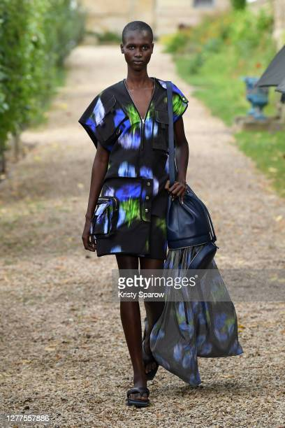 Model walks the runway during the Kenzo Womenswear Spring/Summer 2021 show as part of Paris Fashion Week on September 30, 2020 in Paris, France.