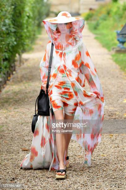A model walks the runway during the Kenzo Womenswear Spring/Summer 2021 show as part of Paris Fashion Week on September 30 2020 in Paris France