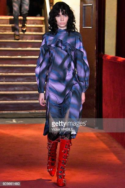 A model walks the runway during the Koche Ready to Wear Fall/Winter 20182019 fashion show as part of the Paris Fashion Week Womenswear Fall/Winter...
