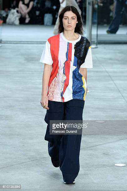 Model walks the runway during the Koche show as part of the Paris Fashion Week Womenswear Spring/Summer 2017 on September 27, 2016 in Paris, France.
