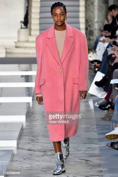 A model walks the runway during the Kristina Fidelskaya fashion show as part of the Paris Fashion Week Womenswear Fall/Winter 2019/2020 on March 04...