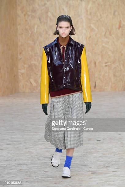 A model walks the runway during the Lacoste as part of the Paris Fashion Week Womenswear Fall/Winter 2020/2021 on March 03 2020 in Paris France
