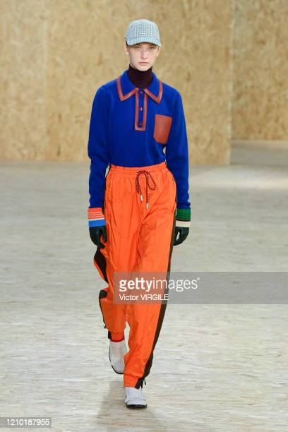 A model walks the runway during the Lacoste Ready to Wear fashion show as part of the Paris Fashion Week Womenswear Fall/Winter 20202021 on March 03...