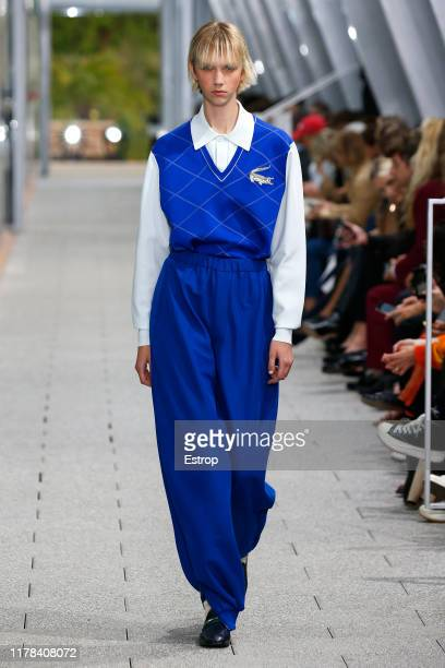 Model walks the runway during the Lacoste Womenswear Spring/Summer 2020 show as part of Paris Fashion Week on October 1, 2019 in Paris, France.