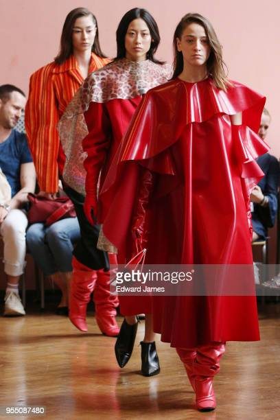 A model walks the runway during the Lado Bokuchava Fall/Winter 2018/2019 Collection fashion show at MercedesBenz Fashion Week Tbilisi on May 5 2018...