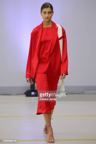 A model walks the runway during the Lako Bukia Spring/Summer 2019 Collection fashion show at MercedesBenz Fashion Week Tbilisi on November 2 2018 in...