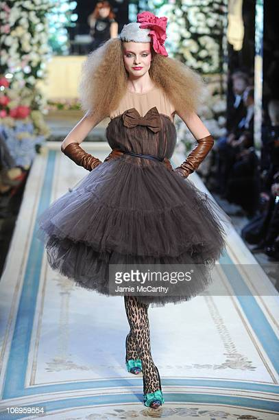 A model walks the runway during the Lanvin for HM Haute Couture Show at The Pierre Hotel on November 18 2010 in New York City