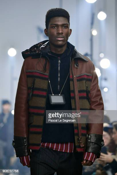 A model walks the runway during the Lanvin Menswear Fall/Winter 20182019 show as part of Paris Fashion Week on January 21 2018 in Paris France