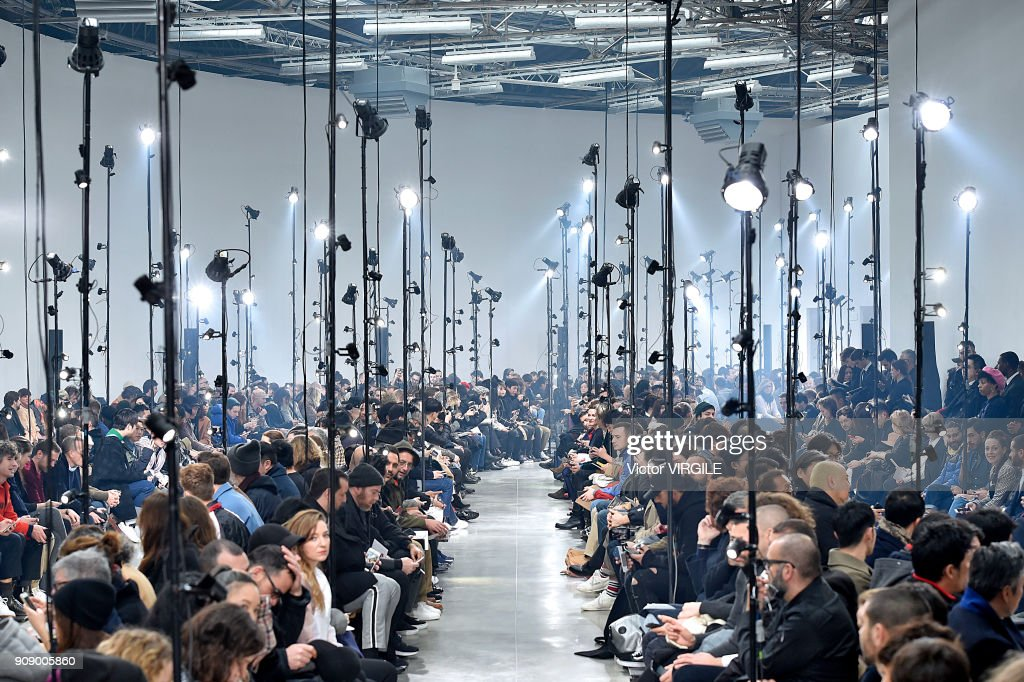 A model walks the runway during the Lanvin Menswear Fall/Winter 2018-2019 show as part of Paris Fashion Week on January 21, 2018 in Paris, France.