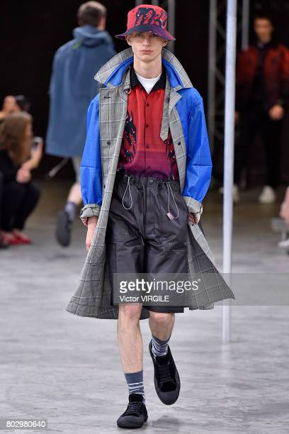 A model walks the runway during the Lanvin Menswear Spring/Summer 2018 show as part of Paris Fashion Week on June 25 2017 in Paris France