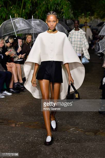 Model walks the runway during the Lanvin Womenswear Spring/Summer 2020 show as part of Paris Fashion Week on September 25, 2019 in Paris, France.