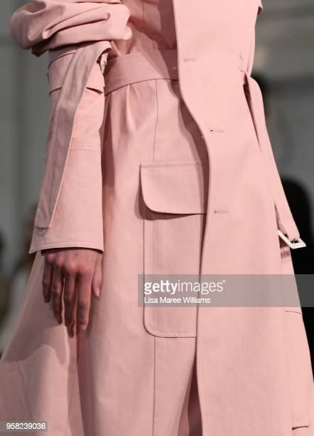 A model walks the runway during the Lee Mathews show at MercedesBenz Fashion Week Resort 19 Collections at Carriageworks on May 14 2018 in Sydney...