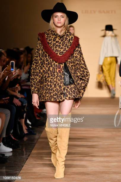 A model walks the runway during the Lilly Sarti fashion show during Sao Paulo Fashion Week N46 Fall/Winter 2019 on October 21 2018 in Sao Paulo Brazil