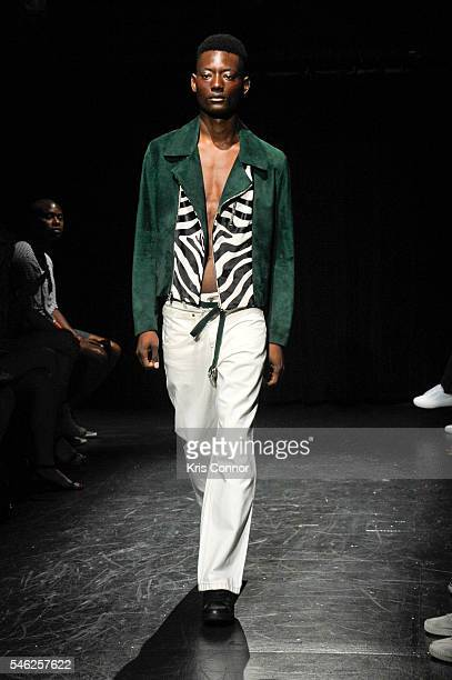 A model walks the runway during the Linder Presentation at Dixon Place on July 11 2016 in New York City