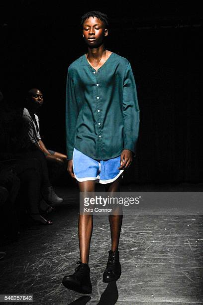 Model walks the runway during the Linder Presentation at Dixon Place on July 11, 2016 in New York City.