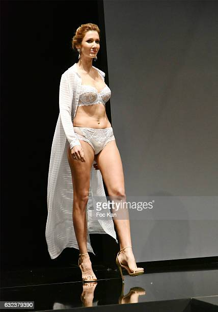 1197745c73 A model walks the runway during the Lise Charmel Lingerie Show as part of Paris  Fashion