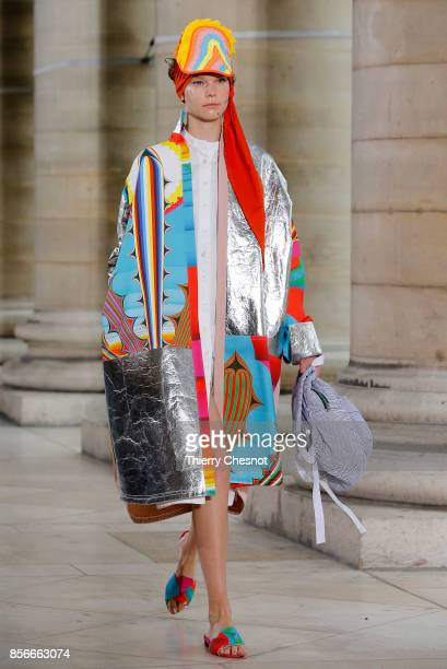 A model walks the runway during the Liselore Frowijn show as part of the Paris Fashion Week Womenswear Spring/Summer 2018 on October 2 2017 in Paris...