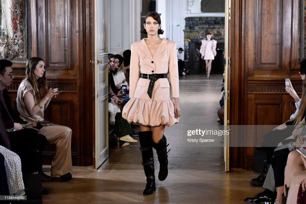 model-walks-the-runway-during-the-liu-chao-show-as-part-of-paris-picture-id1133444030