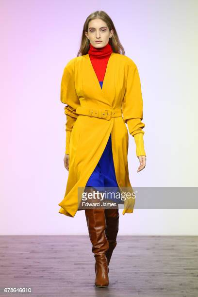 A model walks the runway during the Liya Fall/Winter 2017/2018 collection fashion show during MercedesBenz Fashion Week Tbilisi on May 4 2017 in...