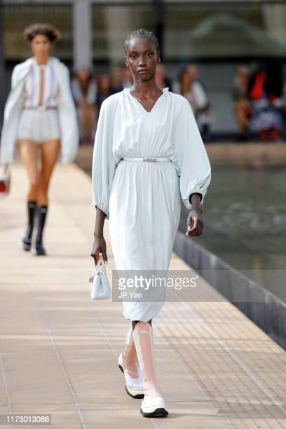 Model walks the runway during the Longchamp SS20 Runway Show on September 07, 2019 in New York City.