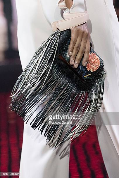 A model walks the runway during the Loris Azzaro show as part of Paris Fashion Week Haute Couture Fall/Winter 2015/2016 on July 9 2015 in Paris France
