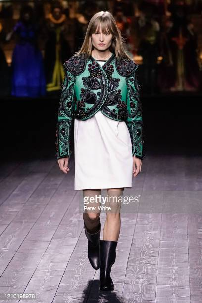 A model walks the runway during the Louis Vuitton as part of the Paris Fashion Week Womenswear Fall/Winter 2020/2021 on March 03 2020 in Paris France