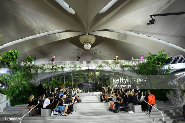 A model walks the runway during the Louis Vuitton Cruise 2020 Fashion Show at JFK Airport on May 08 2019 in New York City