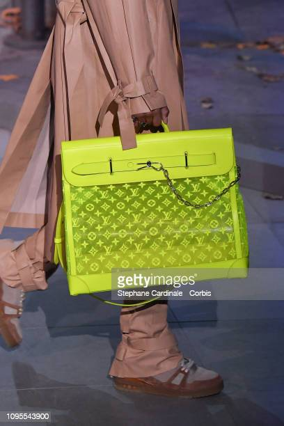 A model walks the runway during the Louis Vuitton Menswear Fall Winter 2019/2020 show as part of Paris Fashion Week on January 17 2019 in Paris France