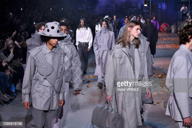 A model walks the runway during the Louis Vuitton Menswear Fall/Winter 20192020 fashion show as part of Paris Fashion Week on January 17 2019 in...