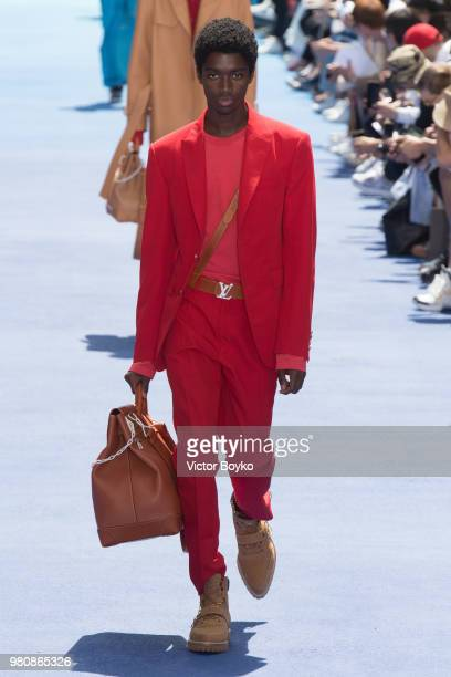 87f768c765116 A model walks the runway during the Louis Vuitton Menswear Spring Summer  2019 show as