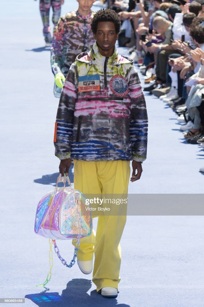 A model walks the runway during the Louis Vuitton Menswear Spring/Summer 2019 show as part of Paris Fashion Week on June 21, 2018 in Paris, France.